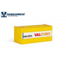 Contenedor de 20' RAÇOES AVIBOM VALOURO años 90.