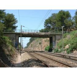 Puente de hormigón. PN SUD MODELISME 8701