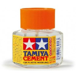 Plastic cement.