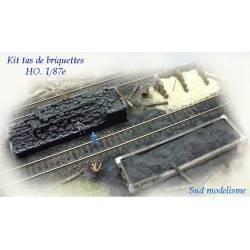 Depósito de briquetas, escoria y arena. PN SUD MODELISME 8725B