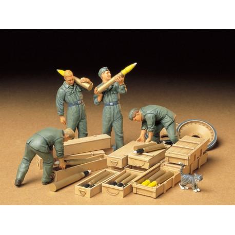 German Tank Ammo-Loading Crew.