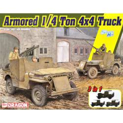 Armored 1/4 ton 4x4 truck.