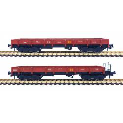 2-set wagons series MM, RENFE. Oxide red.