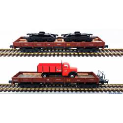 Set 2 vagones serie MM, RENFE. Con carga.