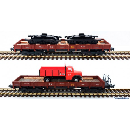 2-set wagons series MM, RENFE. With load.