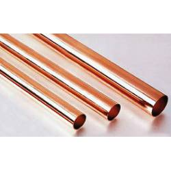 Round copper tube.