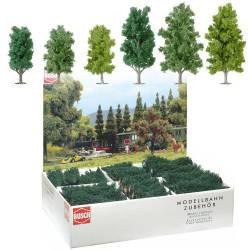 36 árboles variados.