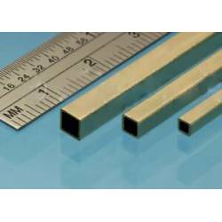 Square brass tube, 1.6, 2.4 y 3.2 mm.