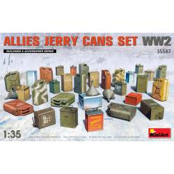 Allies jerry cans set. WWII.