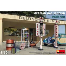 German gas station, 1930-40s.