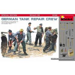 German tank repair crew.