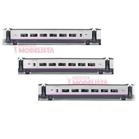Euromed S-101 coaches set, RENFE. ELECTROTREN 3525