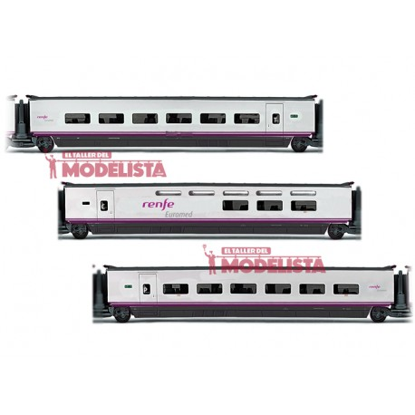 Euromed S-101 coaches set, RENFE. ELECTROTREN 3524