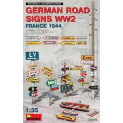 German road signs.