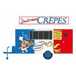 Crepes trailer.