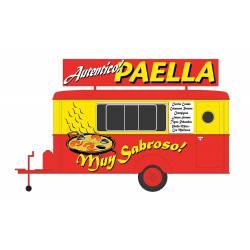 """Puesto de venta """"Paella""""."""