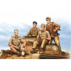German panzer tank crew.