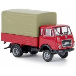 Camión de reparto, rojo.
