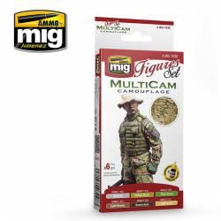 Multicam camouflage set.