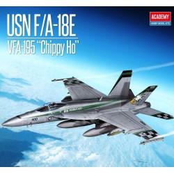 """USN F/A-18E VFA-195 """"Chippy Ho""""."""