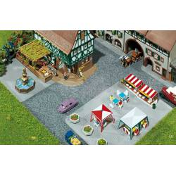 Set of sidewalk tiles. FALLER 272540