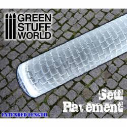 Rolling pin sett pavement.