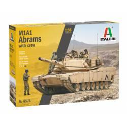 M1A1 Abrams con tripulación.