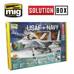Solution box USAF Navy grey fighters.