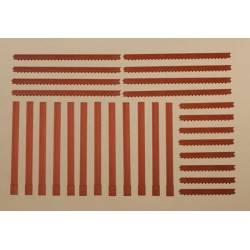 Pillars and brick friezes red. AUHAGEN 80402