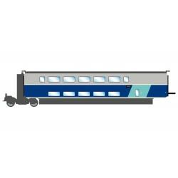 TGV Euroduplex, SNCF. 2nd class coach.