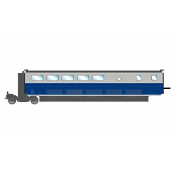 TGV Euroduplex, SNCF. Bar coach.
