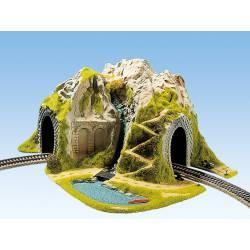 Túnel recto, una vía.
