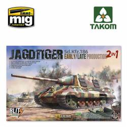 Jagdtiger, early/late version.
