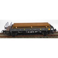 Open wagon w/ brakeman platform, RENFE.