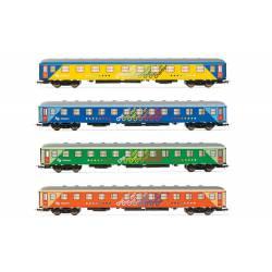 """Set de cuatro coches """"Chartren"""", RENFE."""