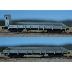 Set 2 vagones borde bajo serie MMfv, RENFE.