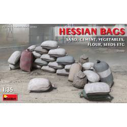 Hessian bags.