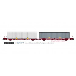 Container carrier wagon Cimar, TRANSFESA.