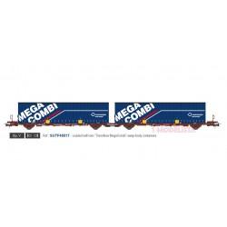 Container carrier wagon Mega Combi, TRANSFESA.
