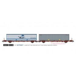 Container carrier wagon Sesé/Cimar, TRANSFESA.
