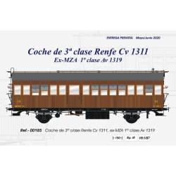 3rd class coach, Cv 1311, RENFE.