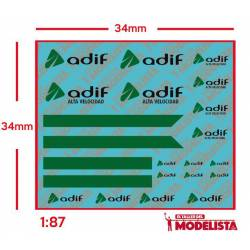 Decals for Renault Trafic ADIF. ETM 9007