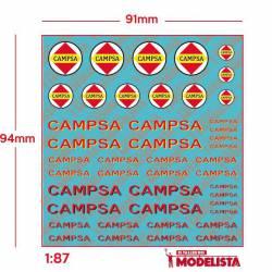 Campsa logotypes, different periods. ETM 9028