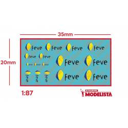 Modern FEVE logotypes. ETM 9038