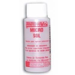Solución para aplicar calcas. MICROSOL. MICROSCALE MI-2