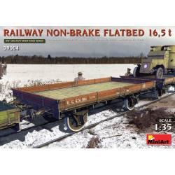 Railway non-brake flatbed.