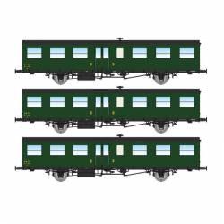 Set de 3 coches SUD-OUEST de 16m, SNCF.