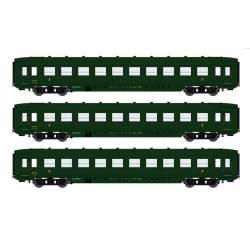 Set de 3 coches DEV AO U46, SNCF.
