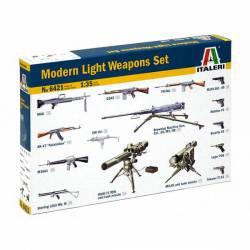 Modern ligth weapons set.