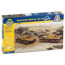 Semovente italiano M40 da 75/18. ITALERI 7519